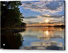 Acrylic Print featuring the photograph Sunburst At Sundown by Lisa Wooten
