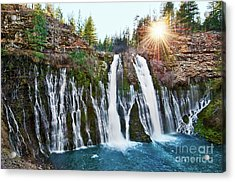 Sunburst Falls - Burney Falls Is One Of The Most Beautiful Waterfalls In California Acrylic Print