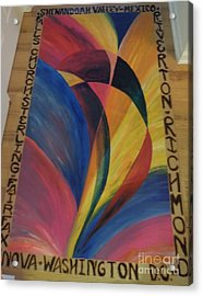 Sunburst Floorcloth Acrylic Print