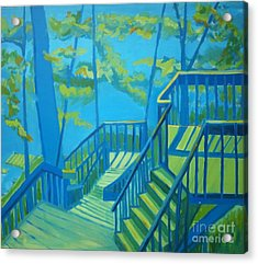 Suncook Stairwell Acrylic Print by Debra Bretton Robinson