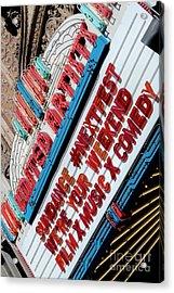 Sundance Next Fest Theatre Sign 2 Acrylic Print