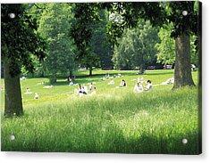 Sunday Afternoon At Waterlow Park Acrylic Print by Helga Novelli