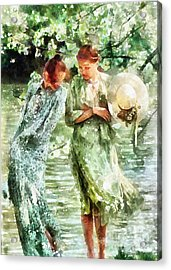 Sunday Afternoon By The Lake Acrylic Print by Shirley Stalter