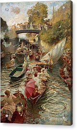 Sunday Afternoon Acrylic Print by Edward John Gregory