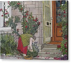 Sunday Afternoon St Andrews Acrylic Print by Victoria Heryet