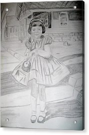 Acrylic Print featuring the drawing Sunday Best by Rebecca Wood