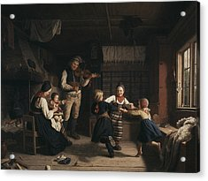 Sunday Evening In A Farmhouse In Dalecarlia Acrylic Print