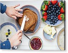 Sunday Family Breakfast Acrylic Print by Anna Denisova