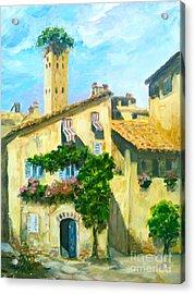 Sunday In Siena Acrylic Print