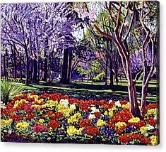 Sunday In The Park Acrylic Print by David Lloyd Glover