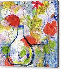 Sunday Market Flowers- Art By Linda Woods Acrylic Print