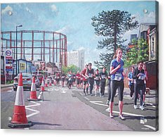 Acrylic Print featuring the painting Sunday Morning Abp Marathon. Northam, Southampton  by Martin Davey