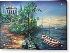 Sunday Morning Greco Floridian Twist Acrylic Print