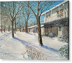Sunday Morning Snow Acrylic Print