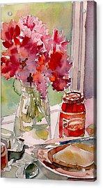 Acrylic Print featuring the painting Sunday Morning by Yolanda Koh