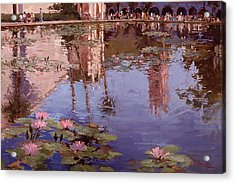 Sunday Reflections - Water Lilies Acrylic Print