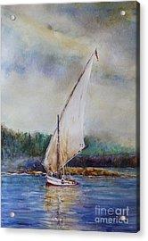 Sunday Sail Acrylic Print by Joyce A Guariglia