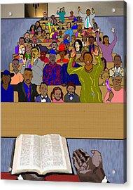 Sunday Sermon Acrylic Print by Pharris Art