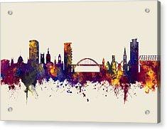 Sunderland England Skyline Acrylic Print