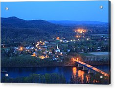 Sunderlight At Twilight From Mount Sugarloaf Acrylic Print