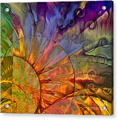 Sundial Acrylic Print by Mindy Sommers