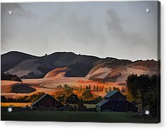 Sundown At The Ranch Acrylic Print by Patricia Stalter