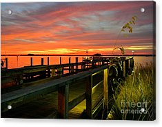 Acrylic Print featuring the photograph Sundown by Elfriede Fulda