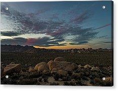 Sundown From Hilltop View Acrylic Print
