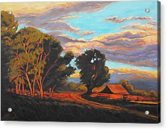 Sundown On The Ranch Acrylic Print