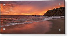 Sundown Over Crescent Beach Acrylic Print