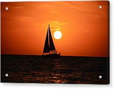 Sundown Sailors Acrylic Print