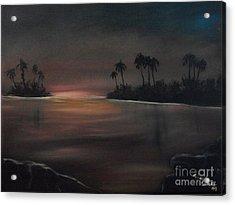 Sundown Acrylic Print by Shawn Cooper