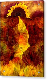 Acrylic Print featuring the digital art Sundown by Tom Romeo