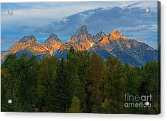 Sundrise On Grand Tetons Acrylic Print