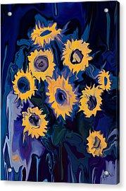 Acrylic Print featuring the digital art Sunflower 1 by Rabi Khan