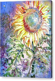 Sunflower And Grasshopper Acrylic Print