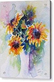 Sunflower Bouquet Acrylic Print by Corynne Hilbert