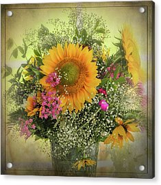 Acrylic Print featuring the photograph Sunflower Bouquet by Expressive Landscapes Fine Art Photography by Thom