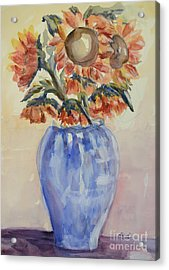 Sunflower Bouquet Acrylic Print by Heather Kertzer