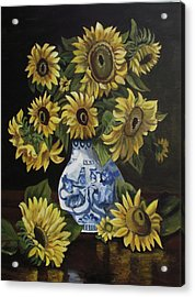 Sunflower Bouquet Acrylic Print by Kim Selig