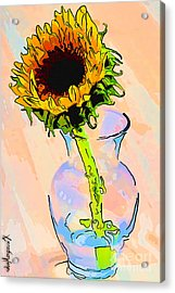 Sunflower Color Acrylic Print by Rdm-Margaux Dreamations