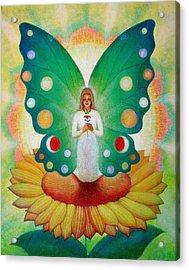 Sunflower Fairy Acrylic Print
