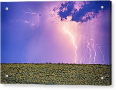 Sunflower Field Thunderstorm Acrylic Print
