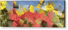 Sunflower Fields Abstract Squares Part 5 Acrylic Print