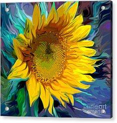 Sunflower For Van Gogh Acrylic Print by Jeanne Forsythe