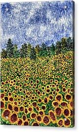 Sunflower Galaxy Acrylic Print