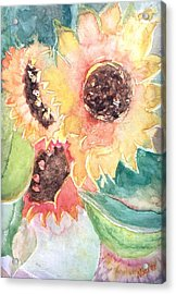 Sunflower Glory Acrylic Print by Renate Nadi Wesley