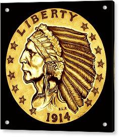 Sunflower Gold Quarter Eagle Acrylic Print