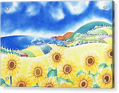 Sunflower Hills Acrylic Print