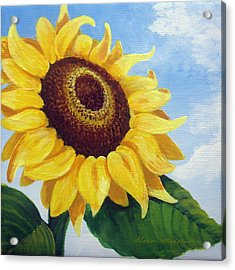 Sunflower Moment Acrylic Print by Sharon Marcella Marston